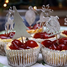 Chocolate Cherry Cheesecakes